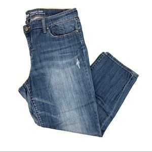 GAP straight crop jeans lightly distressed - 14/32
